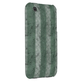 Green Grunge Stripes iPhone 3 Cover