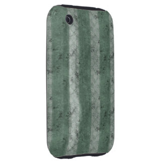 Green Grunge Stripes Tough iPhone 3 Cover
