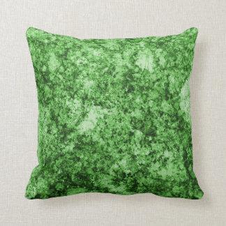 Green Grungy Abstract Design Pillow