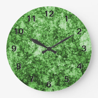 Green Grungy Abstract Design Wallclocks