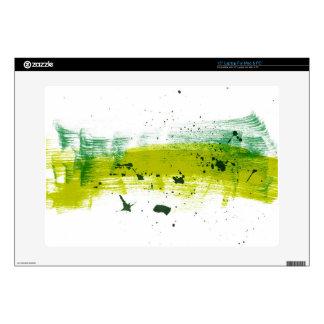Green grungy brushstrokes skins for laptops