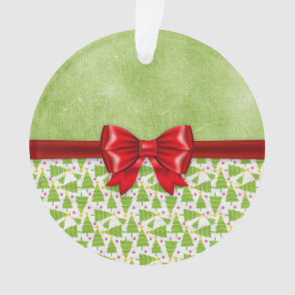 Green Grungy Christmas Tree Ornament