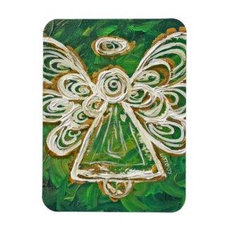 Green Guardian Angel Custom Magnet Art Painting