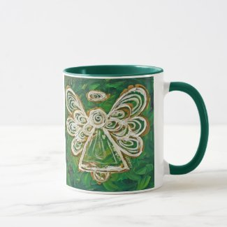 Green Guardian Angel Mug or Cup