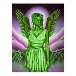 Green Guardian Angel Postcard | Wish You Were Here