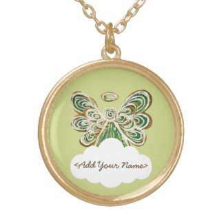 Green Guardian Angel Series Cloud Custom Necklace