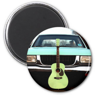 Green Guitar Car Magnets