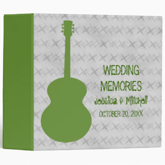 Green Guitar Grunge Wedding Binder