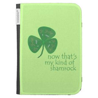 Green Guitar Pick Shamrock Kindle Cover