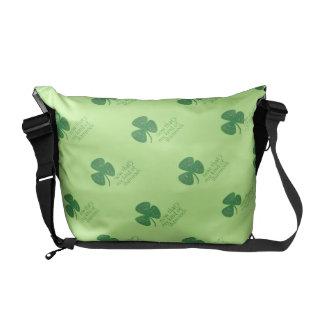 Green Guitar Pick Shamrock Courier Bags