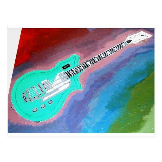 Green Guitar Postcard