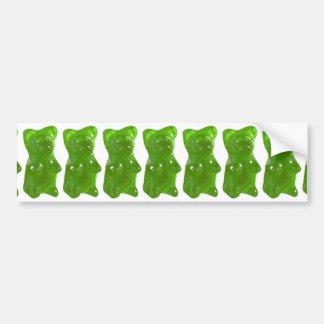 Green Gummy Bear Candy Car Bumper Sticker