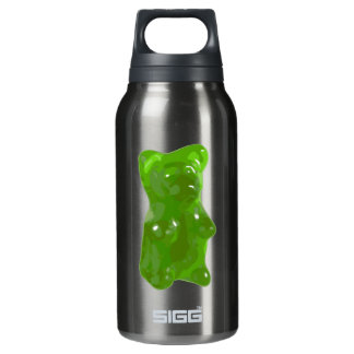 Green Gummy Bear Candy Insulated Water Bottle