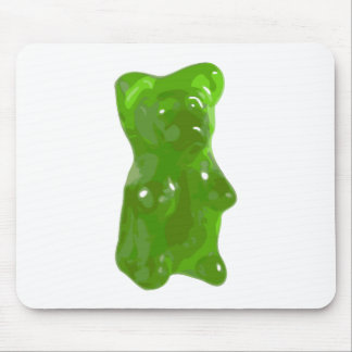 Green Gummy Bear Candy Mouse Pad