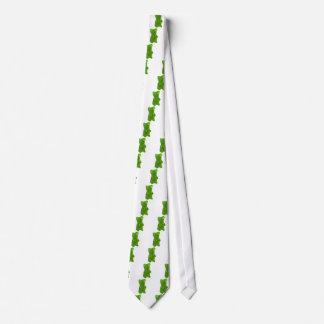 Green Gummy Bear Candy Neck Tie