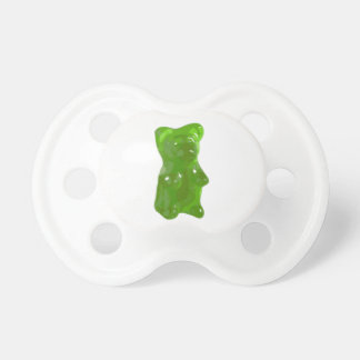 Green Gummy Bear Candy Baby Pacifier