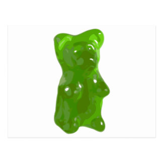 Green Gummy Bear Candy Postcard