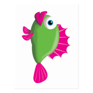GREEN GUPPY POSTCARD