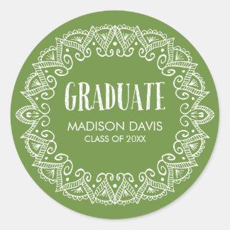 Green Gypsy Graduation Stickers
