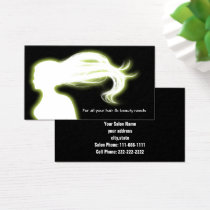 green Hair Salon businesscards Business Card