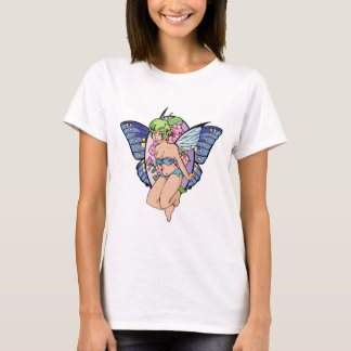 Green-Haired Butterfly Fairy T-Shirt