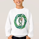 Green Haired Celtic Head Sweatshirt