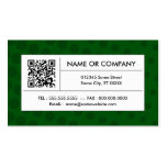 green halftone QR code Business Cards