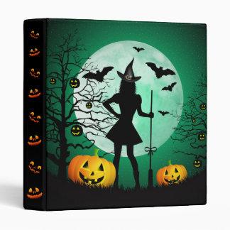 Green Halloween Binder