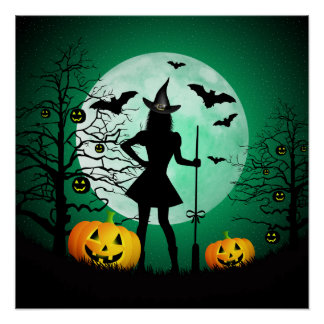 Green Halloween Poster