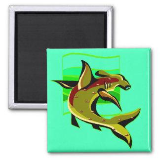 Green Hammerhead Shark Fridge Magnets