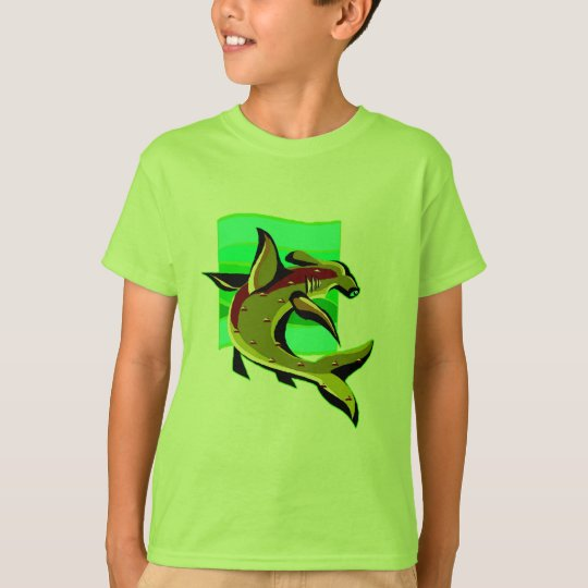 Green Hammerhead Shark T-Shirt
