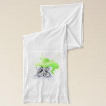 green hamster scarf