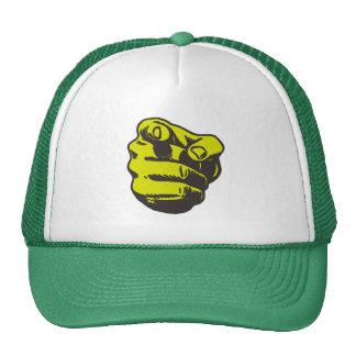 Green Hand and finger Trucker Hat