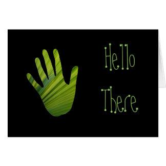 Green Hand Cut Out Card