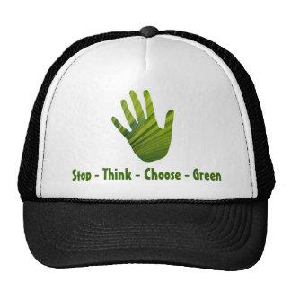 Green Hand Cut Out Trucker Hat