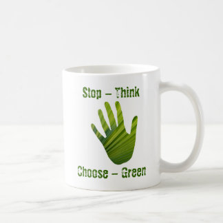 Green Hand Cut Out Mug