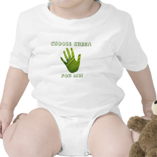 Green Hand Cut Out T-shirts