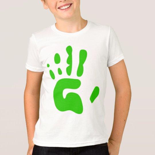 Green Hand Print T-Shirt