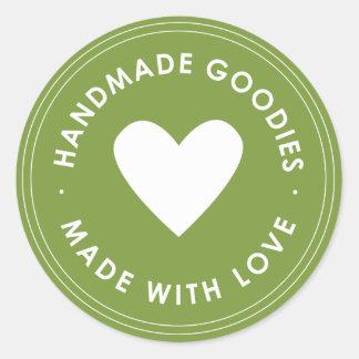 Green Handmade Goodies Sticker