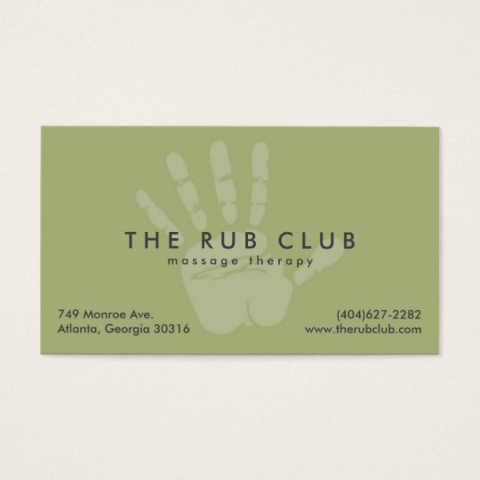 Green handprint massage therapy business card zazzle green handprint massage therapy business card reheart Images