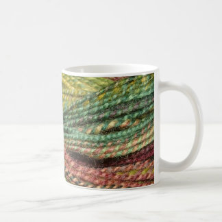 green handspun yarn classic white coffee mug