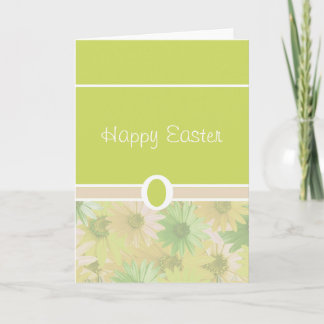 Green Happy Easter Holiday Card