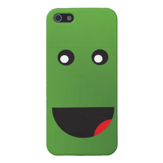 Green Happy Face Cover For iPhone SE/5/5s