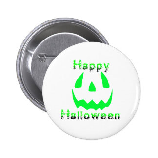 Green Happy Halloween Button