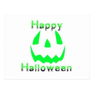 Green Happy Halloween Post Card