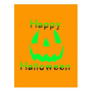 Green Happy Halloween Post Cards