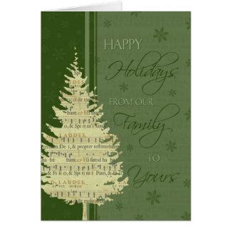 Green Happy Holidays Christmas Card