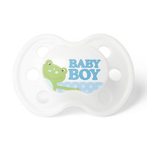 Green Happy Leap Frog Baby Boy Baby Pacifier