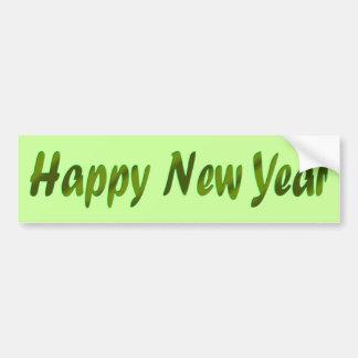 green Happy New Year Car Bumper Sticker