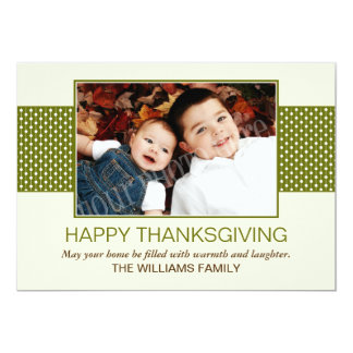 Green Happy Thanksgiving Cards